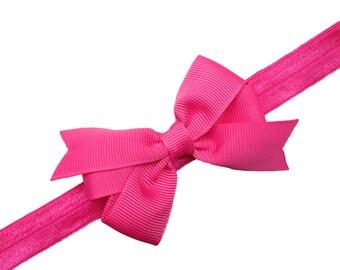 Pink baby headband  - pink bow headband, baby headbands, newborn headband, baby girl headband, baby bow headband, baby headband, baby bows