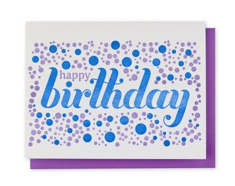 Birthday Letterpress Card // Dots