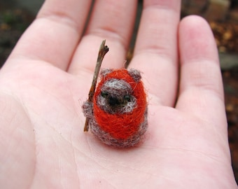 Ewok needle felted miniature
