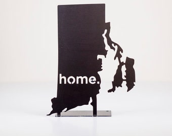Rhode Island Home State Steel Sign - Metal State Decor