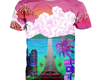 Vaporwave Car T shirt