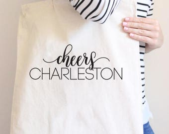 Cheers Charleston, Bachelorette Party, Charleston Bachelorette, bachelorette gift, Charleston Bachelorette party, Charleston tote