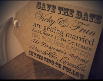 Save the Date | Favour Tag | Guest Name Card | Vintage Gift Tag