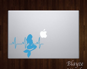 Mermaid Heartbeat / Car/Computer vinyl decal