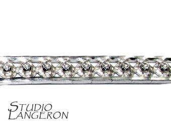 935 Sterling Silver Bezel wire, Gallery wire, Gallery ribbon - 4 inch
