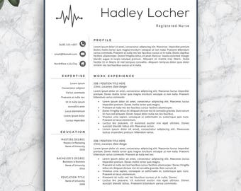 Nursing resume Etsy