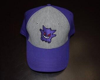 Pokemon Gengar Dad Hat | Purple and Gray Ash Hat | Ash Costume | Pokemon Hat | Ash Ketchum | Ketchum | Pokemon League | Indigo League