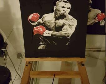 Mike Tyson acrylic on canvas