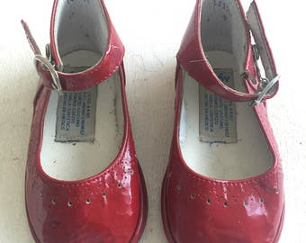Red Patent Leather Toddler Mary Jane