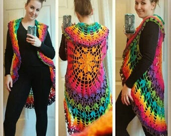 Rainbow circle sweater vest - more colors coming soon