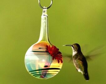 CO- Hummingbird Feeder, The Kennedy Style Hummingbird Feeder, The Original One Piece Drip-less Hummingbird Feeder/Cobalt Blue