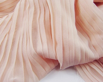 """3 Meters 150CM 59"""" wide  75D Naked Apricot Ruffled Pleated Crumple Chiffon  Fabric Solid Dress Clothes Materials LX17 Free Ship"""