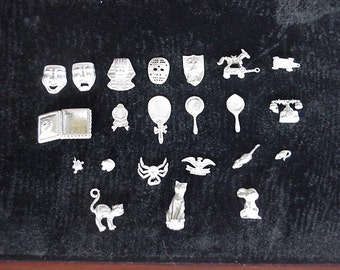 222 pieces of assorted dollhouse unfinished metal miniatures