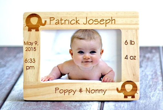 Personalized newborn baby picture frame gift for parents like this item negle Images