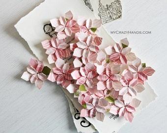 30+ wedding petals | bridal shower decors | wedding flowers |||| origami flowers || | paper flowers || wedding favors || -pink roses