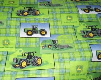 MadieBs Custom John Deere Tractors Cotton  Basinette Sheet