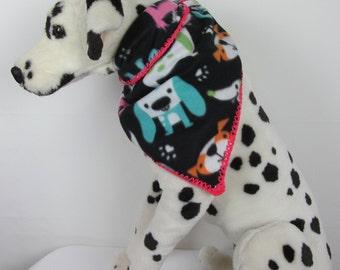 Pet fleece bandada, dog neck warmer, pet accesories, dog bandana