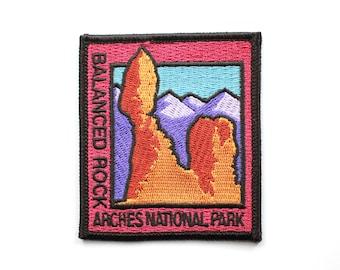 Official Arches National Park Souvenir Patch - Balanced Rock - Moab Utah