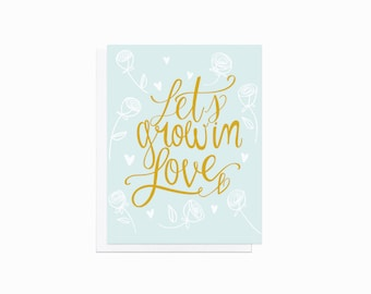 Love Card - Lets Grow In Love