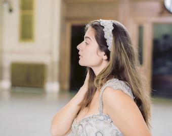Isa Wedding headpiece, Bridal headbands, Bridal headpieces -16 inches