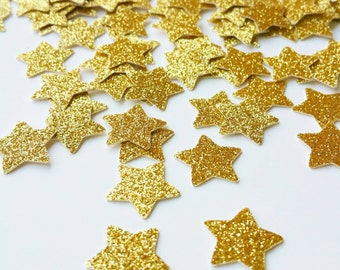 Gold Confetti Gold Star Glitter Confetti Gold Star Table Confetti Star Confetti Star Party Decorations Gold Stars
