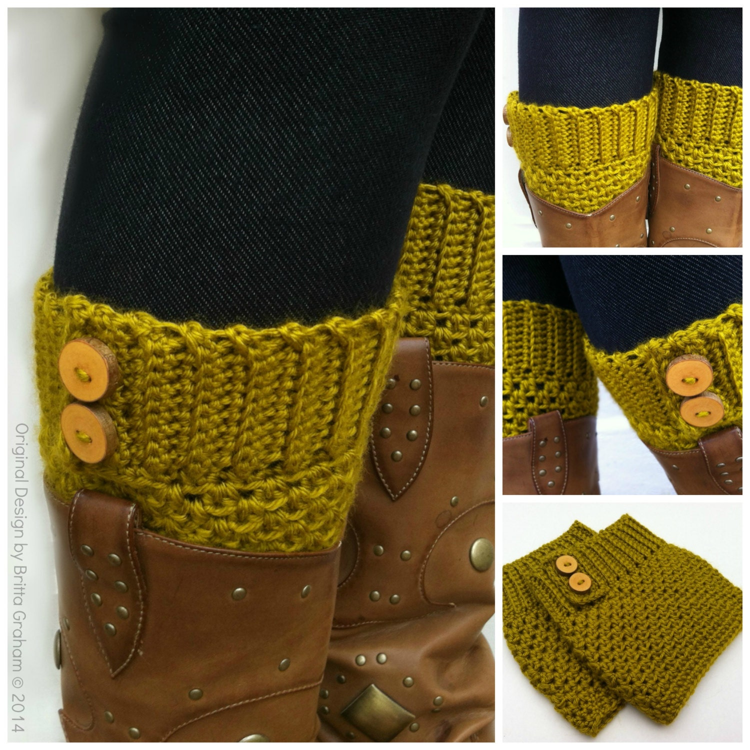 Crochet Boot Cuff Pattern Button Up Boot Cuffs Crochet