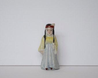 Ceramic Made in Japan Native American Indian Figurine #I16