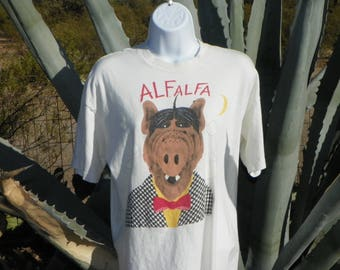 "VERY RARE Vintage ALF Tv Character ""ALFalfa""  Tee Shirt From  1980s"