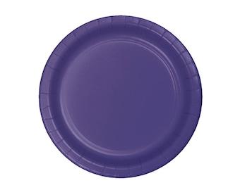 9  Purple Plates - Party Supplies - Paper Plates - Mermaid Party - Purple Decorations - Ocean Party - Purple Wedding - Bachelorette Decor  sc 1 st  Etsy & Purple plates | Etsy
