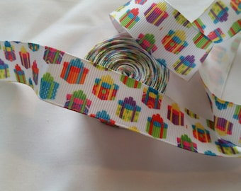 Christmas Packages Ribbon | Christms Ribbon | Christmas Grosgrain Ribbon | Grosgrain Ribbon |
