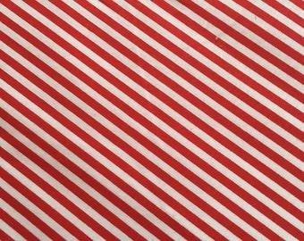 Tiny Red Stripe Fabric