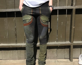 Patchy hand painted hempor bamboo 5 pocket leggings