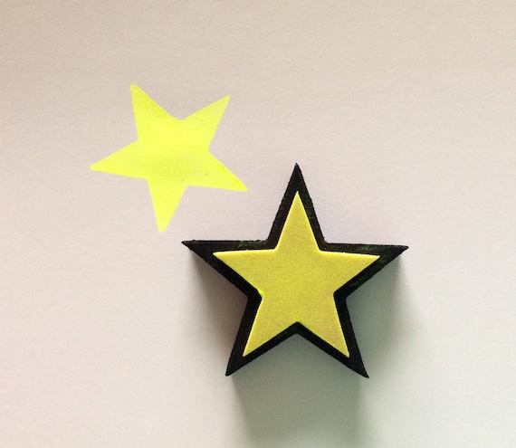 FOAM STAR STAMP / wall decor / fabric / pottery / ceramic / diy ...