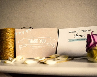 Thank You Cards - Rustic Happiness