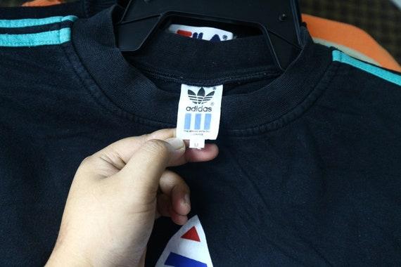 neck International Sweater Shirt Crew Jumper Vintage Sport wear Medium Sport Embroidery Size Training Pullover Adidas Sweatshirt Multicolor 5wxRgqY