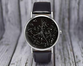 Vintage Constellation Watch   Northern Hemisphere   Leather Watch   Ladies Watch   Men's Watch   Birthday   Wedding   Gift Ideas   Accessory