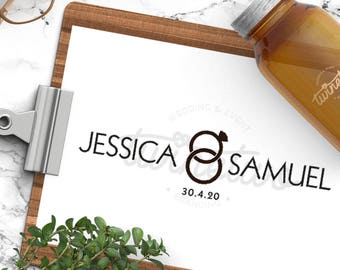 Wedding Logo Design • Wedding Monogram Design | Personalized | Ready Made | Custom | Modern | Simplistic