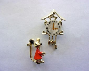 Clock & Mouse Scatter Pins