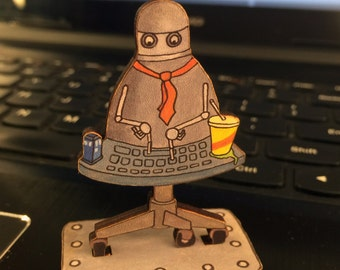 Office Drone Action Figure