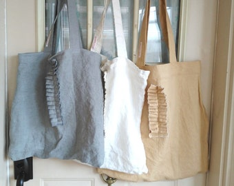 Linen Bag.  Shoulder bag. Market bag. Linen Tote. Shopping Bag. Ready to ship.