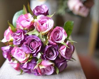Classic Rose Bunch in pink/purple -ITEM052