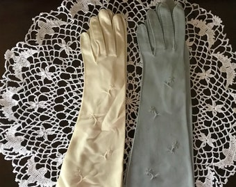 Vintage Set of Van Raalte Formal Ladies Gloves: Elbow Length