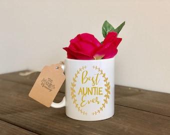Aunt Coffee Mug, Auntie Mug, Aunt Coffee Cup, Auntie Coffee Cup, Best Aunt Ever Mug, Best Auntie Ever Mug, Best Aunt Coffee Cup