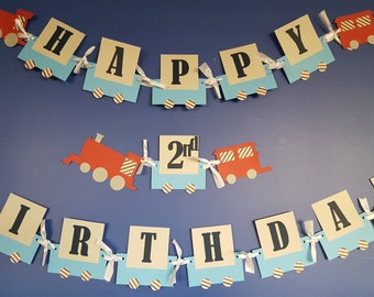 Train Banner, Train Birthday Banner, Choo Choo Banner, Choo Choo Birthday Banner, Train Birthday