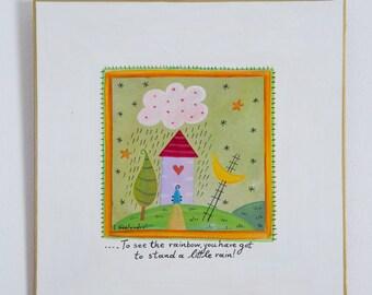 Original Painting, Folk Art, Acrylic Painting, Wall Art Quotes, Original Art, Nursery Art, Nursery Decor, Kids Decor, FREE SHIPPING