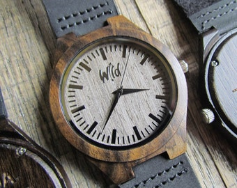 FREE Engraving, Wood Watch,Fathers Day Gift, Boyfriend Gift, Mens watch, Groomsmen gift, Husband Gift, Anniversary Gift,  engraving, SM204
