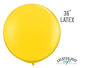 "36"" YELLOW giant latex balloon - Perfect for weddings, birthdays, photography props"