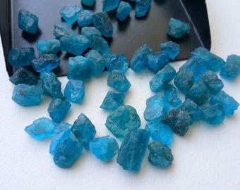 10 Cts Neon Apatite Raw Stones, Natural 3-5mm Loose Neon Apatite Rough Sticks, Apatite Jewelry - DVP48