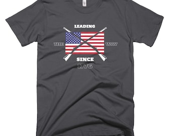 Leading the Way Since 1776 4th of July Independence Day Patriotic Short-Sleeve T-Shirt