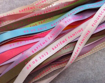 50 BRACELETS personalized with your text MESSAGES